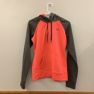 Under Armour neon pink and grey hoodie size small